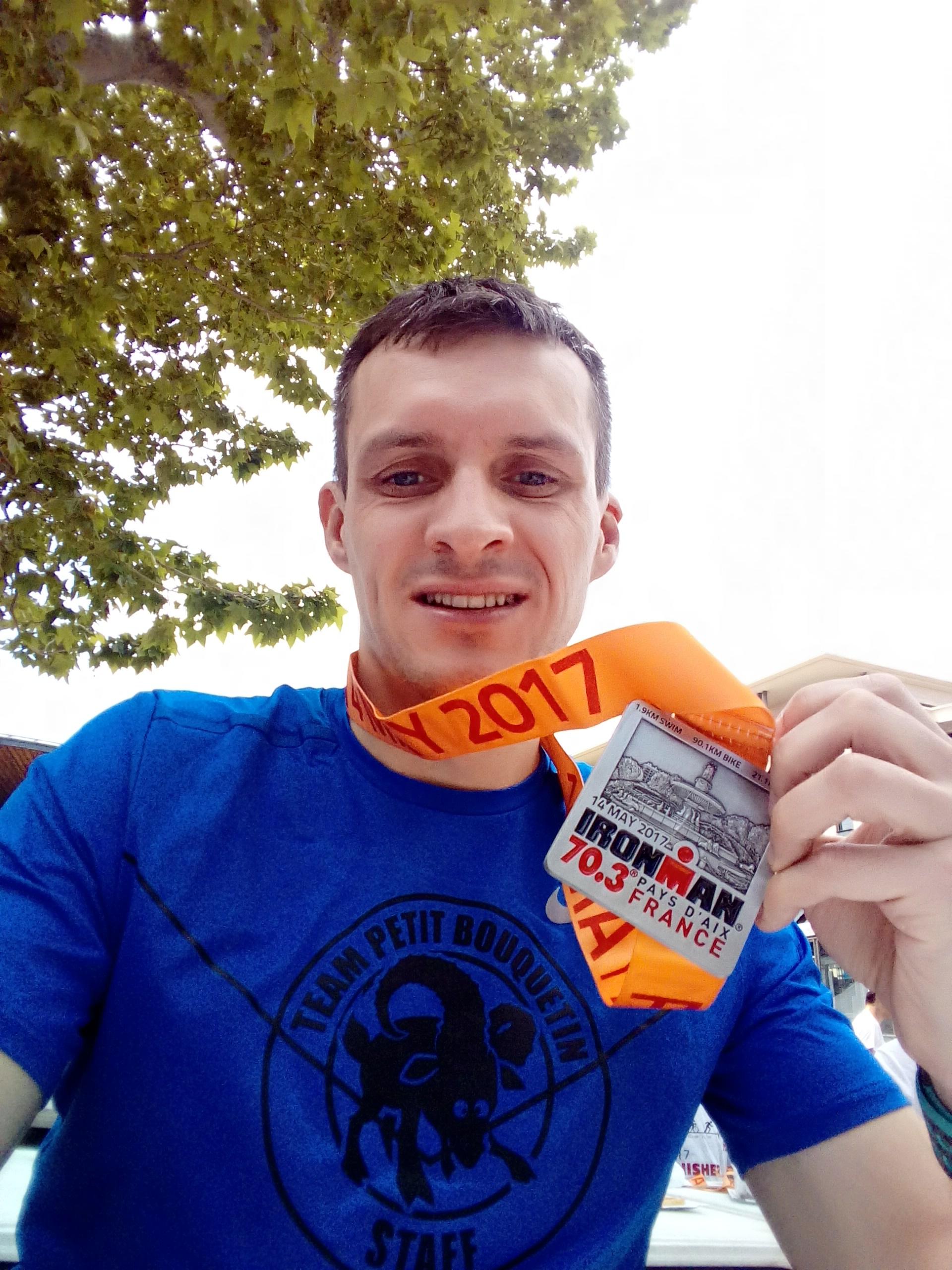 Histoire d'une course #18 : Aix, 2017, Triathlon, Magic Monkey aussi fait son Half IronMan